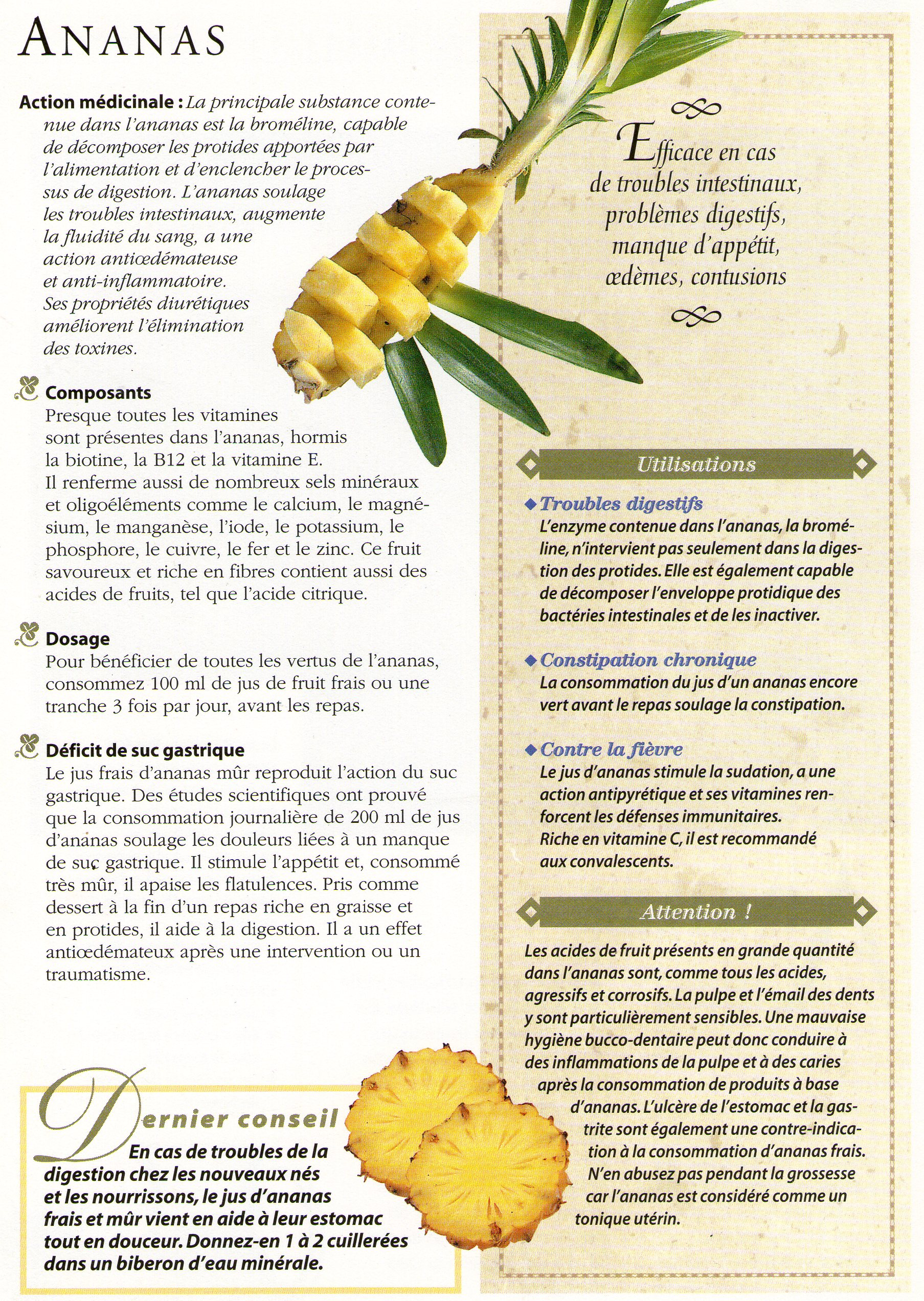 Les bienfaits de l ananas que du bonheur for Regime ananas